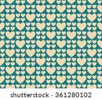 retro seamless pattern of... | Shutterstock .eps vector #361280102