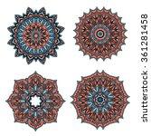 circular retro floral patterns... | Shutterstock .eps vector #361281458