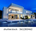luxurious villa with swimming... | Shutterstock . vector #361283462