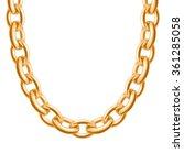 chunky chain golden metallic... | Shutterstock .eps vector #361285058