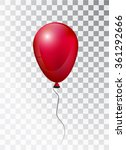 balloon white on transparent... | Shutterstock .eps vector #361292666
