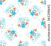 seamless pattern with cartoon... | Shutterstock . vector #361298642