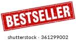 bestseller red square grunge... | Shutterstock .eps vector #361299002