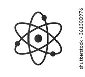 atom    vector icon | Shutterstock .eps vector #361300976
