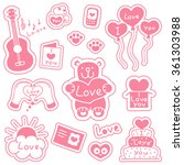 set of stickers with messages... | Shutterstock .eps vector #361303988