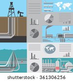 infographics of oil and gas... | Shutterstock .eps vector #361306256