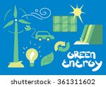 clean energy  ecological types... | Shutterstock .eps vector #361311602