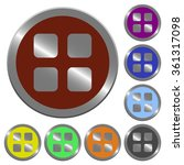 set of glossy coin like color...