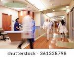 busy nurse's station in modern... | Shutterstock . vector #361328798