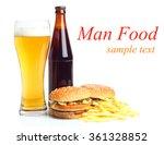 fast food set big hamburger and ... | Shutterstock . vector #361328852