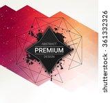 geometric background design  ... | Shutterstock .eps vector #361332326