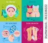 plastic surgery design concept...   Shutterstock .eps vector #361336022
