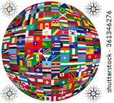 set of flags of world sovereign ... | Shutterstock . vector #361346276