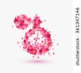 perfume bottle of rose petals.   Shutterstock .eps vector #361347146
