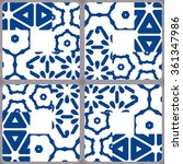 blue and white portuguese... | Shutterstock .eps vector #361347986