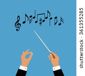 Flat Concept Of Music Orchestr...