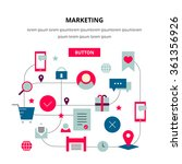 marketing thin line  flat icon... | Shutterstock .eps vector #361356926