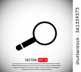 magnifying glass vector icon | Shutterstock .eps vector #361359575