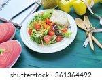 fresh salad  fruits with sport...   Shutterstock . vector #361364492