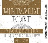 modern stylish alphabet for...   Shutterstock .eps vector #361367888