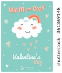 valentines day gift 3x4 card... | Shutterstock .eps vector #361369148