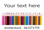 group of color pencils select... | Shutterstock . vector #361371755