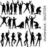 silhouette people. all elements ... | Shutterstock .eps vector #36137254