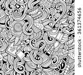 cartoon hand drawn doodles on... | Shutterstock .eps vector #361374656