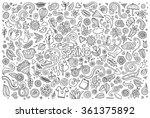 vector sketchy line art doodle... | Shutterstock .eps vector #361375892