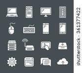 simplus icons series. network... | Shutterstock .eps vector #361377422