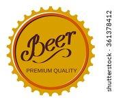 beer cap | Shutterstock .eps vector #361378412