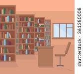 library room   book shelf... | Shutterstock .eps vector #361380008