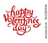happy valentine's day. vector... | Shutterstock .eps vector #361384946
