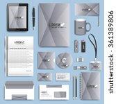 set of vector corporate... | Shutterstock .eps vector #361389806