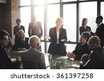 Stock photo meeting corporate success brainstorming teamwork concept 361397258