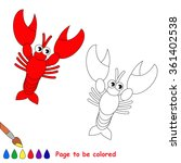 lobster in vector cartoon to be ... | Shutterstock .eps vector #361402538