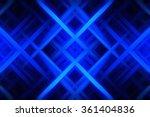 abstract blue fractal... | Shutterstock . vector #361404836