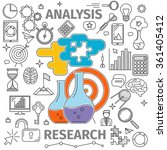 analysis research concept | Shutterstock .eps vector #361405412
