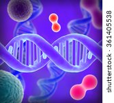 dna on a purple background | Shutterstock . vector #361405538
