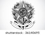 vector star and banner ornament | Shutterstock .eps vector #36140695