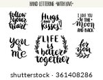 quotes. valentine lettering... | Shutterstock .eps vector #361408286