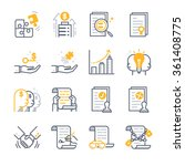 business contract agreement... | Shutterstock .eps vector #361408775