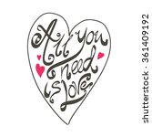 all you need is love text... | Shutterstock .eps vector #361409192