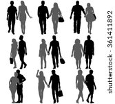 couples man and woman... | Shutterstock .eps vector #361411892