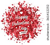 valentines day vector lettering ... | Shutterstock .eps vector #361412252
