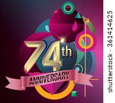 74th anniversary  party poster  ... | Shutterstock .eps vector #361414625