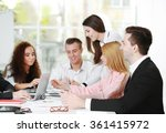 young business people... | Shutterstock . vector #361415972