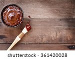 barbecue sauce with basting... | Shutterstock . vector #361420028