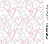seamless background pink hearts ... | Shutterstock .eps vector #361420412