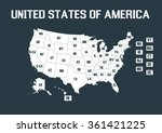 united states of america map ... | Shutterstock .eps vector #361421225